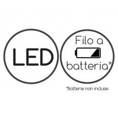 Filo luminoso 20 luci LED a batteria