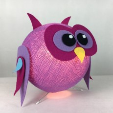 Lampada KOOBOZOO OWLY colore Lavanda