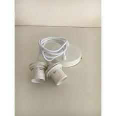 Sospensione Doppia PVC colore bianco